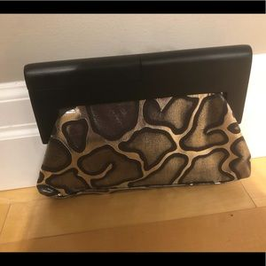 Handbags - Metallic Giraff print clutch - NWOT